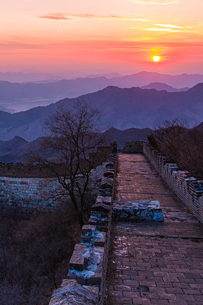 The Great Wall Sunset by qiao liang sundown tmblr