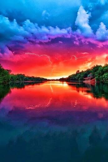 breaking day rainbow