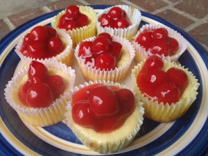 fruit cheesecakes mini