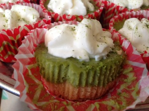 matcha tea cheesecakes mini
