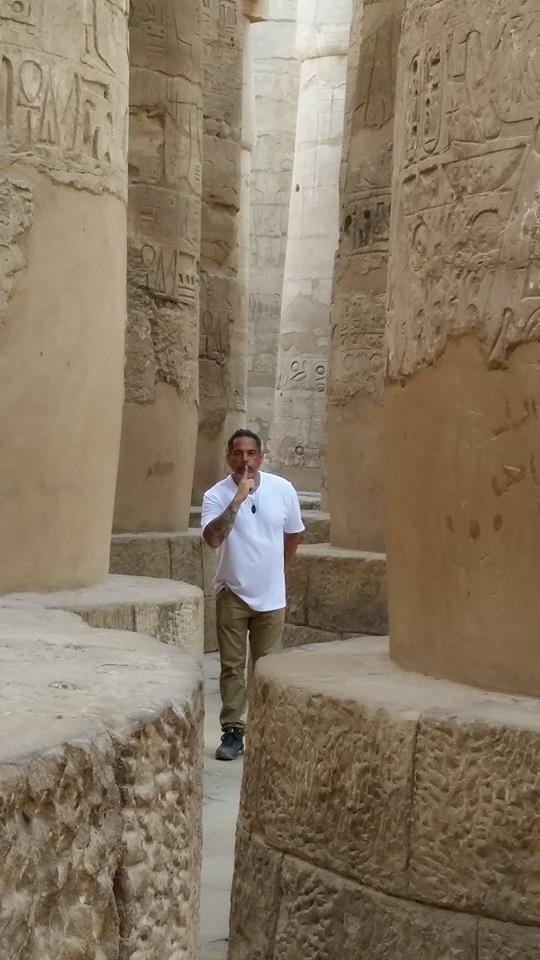 HPS and Grandmaster Jorge Enriquez amidst the grand columns of the Temple of Karnak, Egypt, September 3, 2014