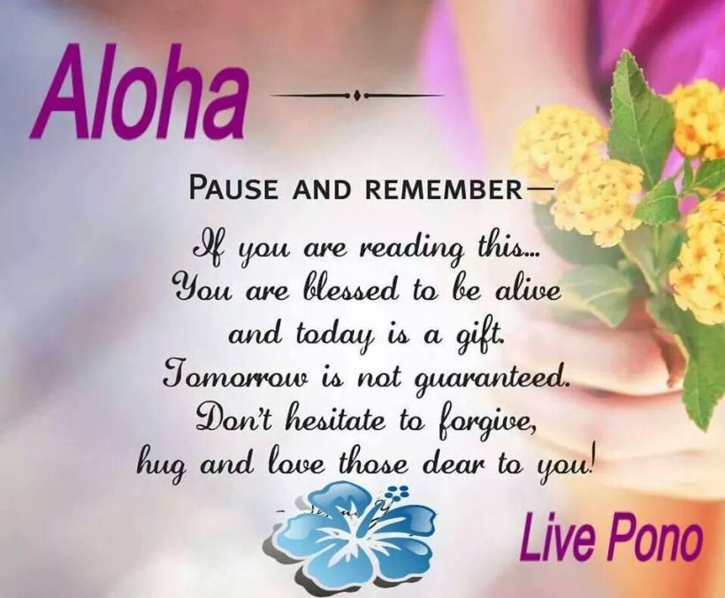 aloha thought