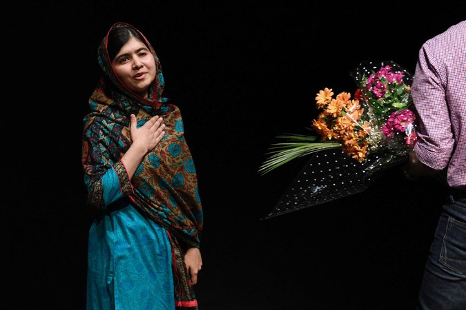 Malala Yousafzai, age 17, the youngest Nobel Peace Prize Laureate
