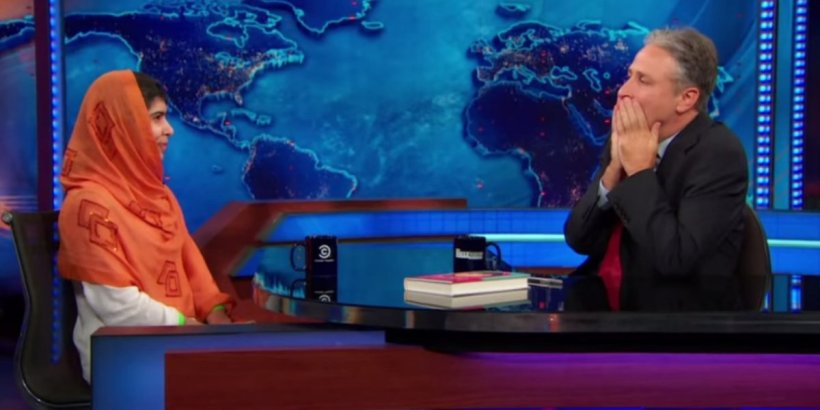 Yousafzai left Jon Stewart speechless during an appearance on the Daily Show last year.