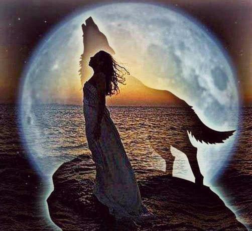wolf girl moon