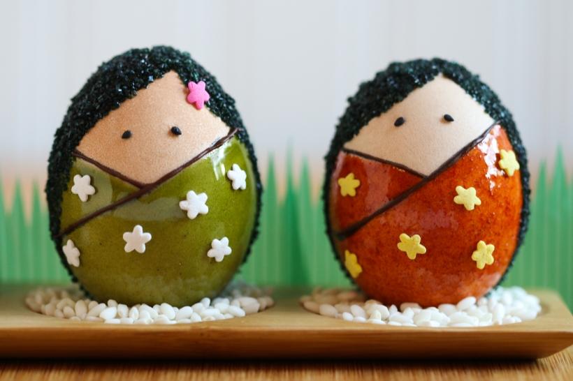 Kokeshi Egg Dolls