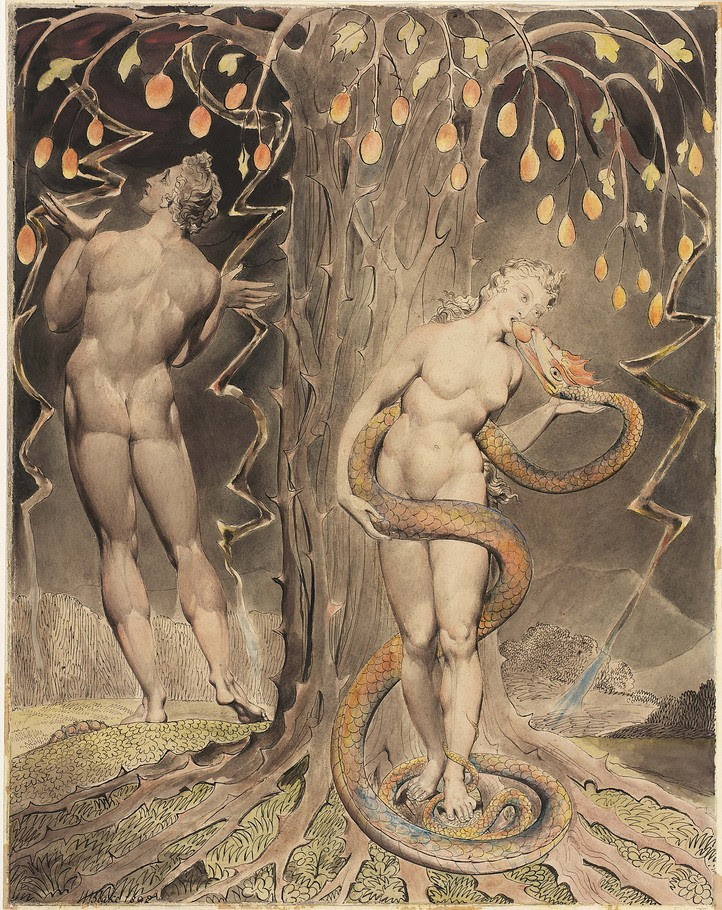 Art by William Blake for John Milton's Paradise Lost