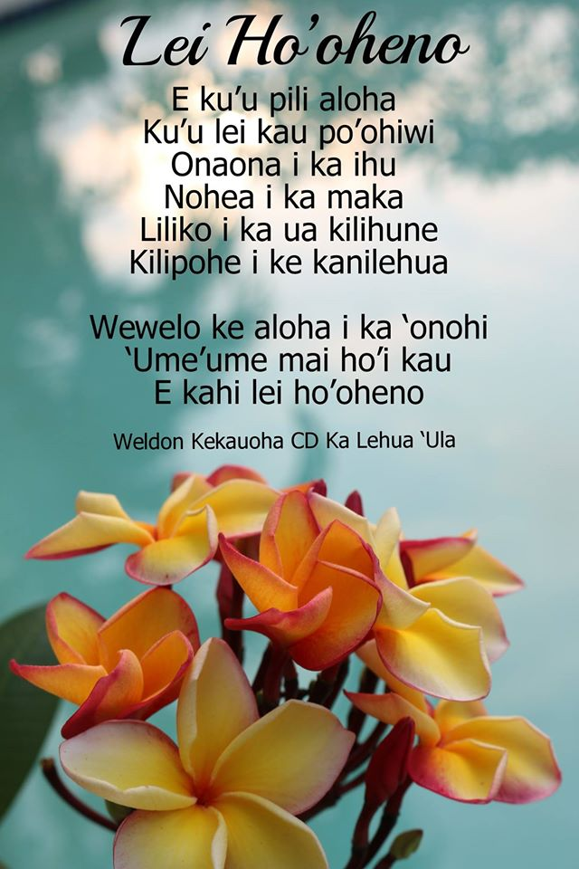 Lyric may day is lei day in hawaii lyrics : Lei Ho'oheno – Words & Music by Kainani – Hālau Ê»Aha HÅ«i Lānakila