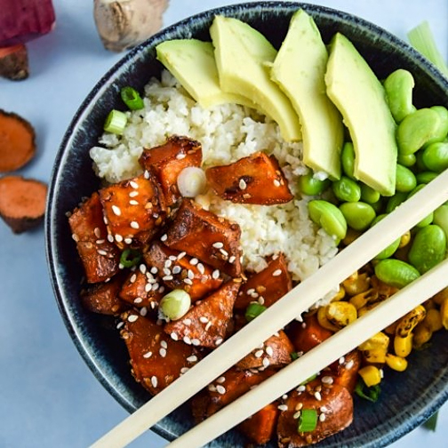 Teriyaki Cauliflower Rice Bowl - click here for the recipe