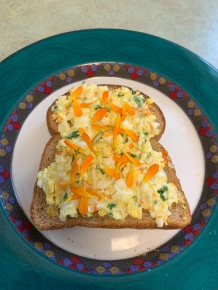Calendula with egg salad